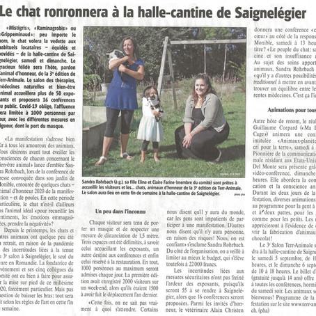 Article du Franc-Montagnard du 1.09. 2020