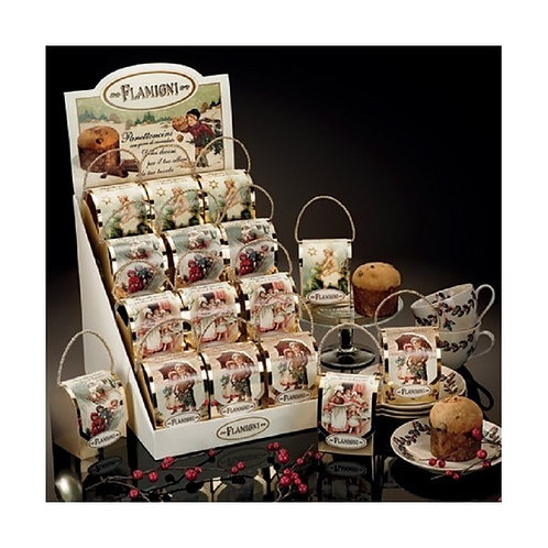 Mini Panettone con gocce di cioccolato 80gr  - Astuccio Segnaposto