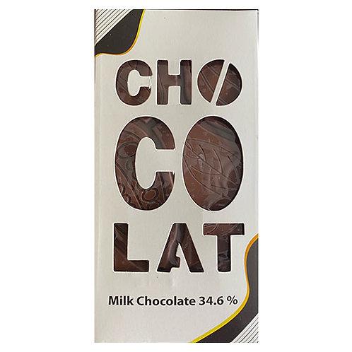 Tablette chocolate au lait 34.6% - 100gr