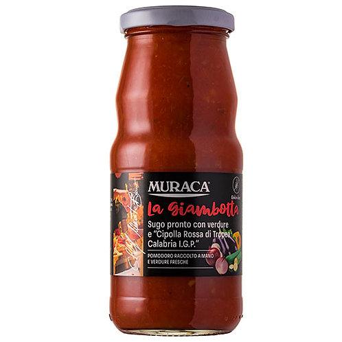 Sauce prête avec légumes et 'Oignon rouge de Tropea Calabria IGP - 370 ml