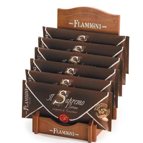 Supremo friabile ricoperto al cioccolato fondente incartato con carta di riso