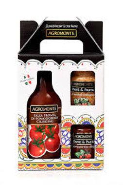 """Gift box """"Agromonte"""" - 1 bottiglia + 2 barattoli"""