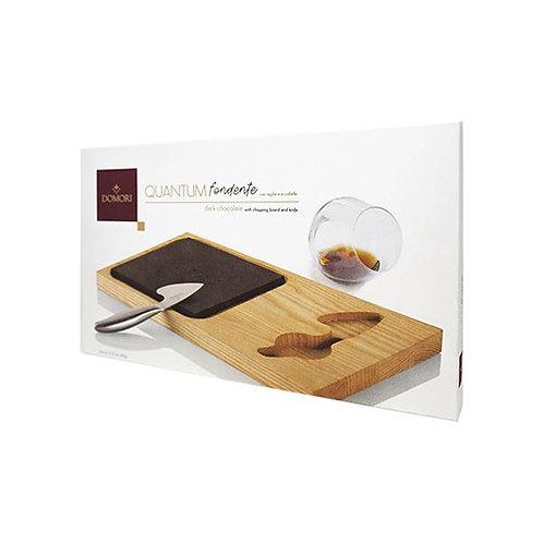 """'QUANTUM' Maxi chocolat noir avec planche à découper et couteau """"Domori"""""""