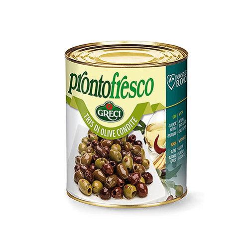 Tris d'olives assaisonnées - 780 gr.