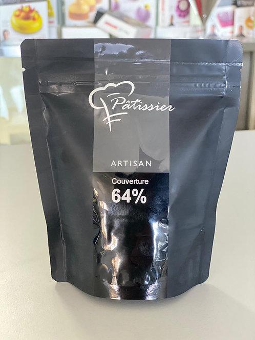"""Cioccolato Fondente copertura in bottoni 64% """"Patissier"""" - 200 gr."""