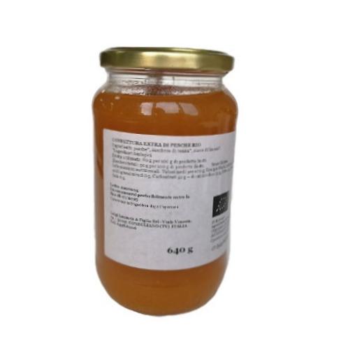 "Confiture Extra Pêches Bio ""Lazzaris"" - 640 gr."