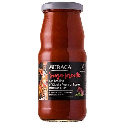 Sauce prête avec basilic et 'Oignon rouge de Tropea Calabria' IGP - 370ml