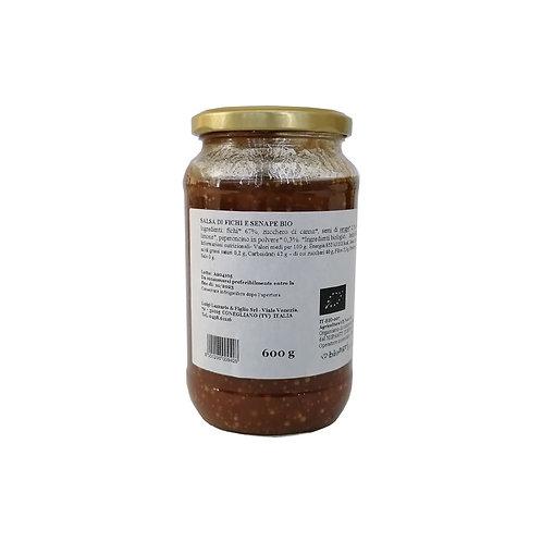 Sauce aux figues à la moutarde Bio - 600 gr.
