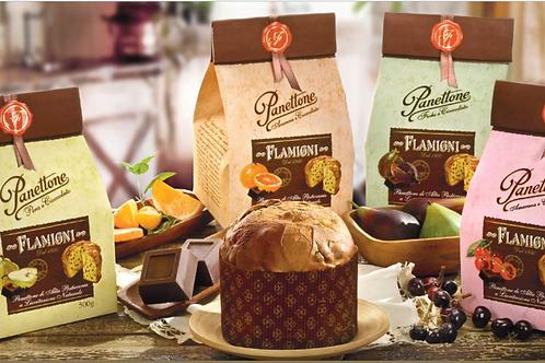 Ass.To Panettone Frutta e Ciocc.Arancio/Fichi/Pera/Amarena in sacchetto rustico