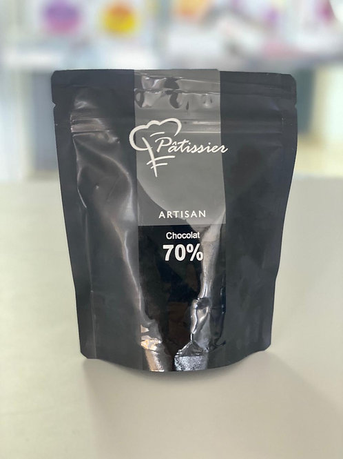 "Cioccolato Fondente in bottoni 70% ""Patissier"" - 200 gr."