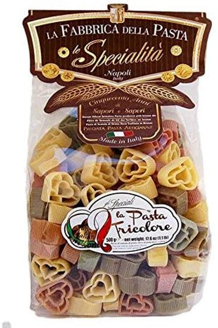 """Cuori tricolore """"La Fabbrica delle Pasta"""" - 500 gr."""