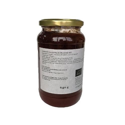 """Confiture Extra Fraise Bio """"Lazzaris"""" - 640 gr."""