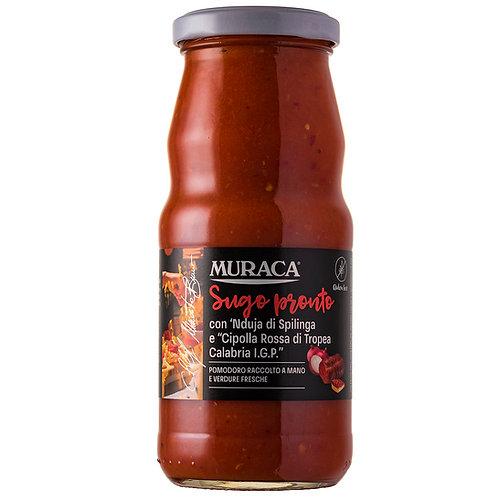 Sauce prête avec 'nduja de Spilinga et 'Oignon rouge de Tropea Calabria - 370 ml