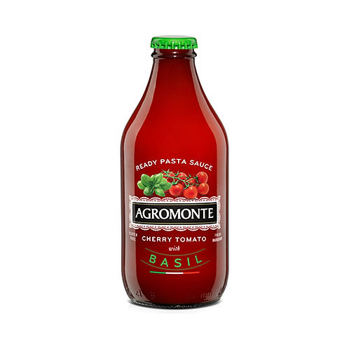 """Sauce de tomate cerise au basilic  """"Agromonte"""" - 33 cl."""
