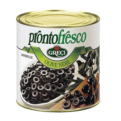Olives Noires en rondelles - 2600 gr.