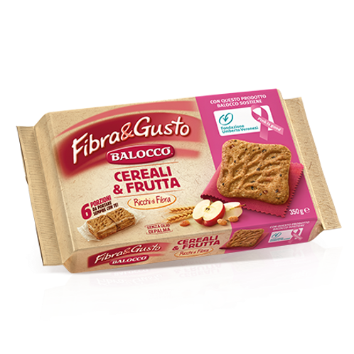 """Fibra & Gusto 'Céréales et Fruits' """"Balocco"""" - 350 gr."""