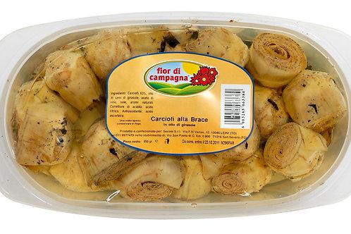 Carciofi grigliati in vaschetta all'olio di Girasole - 950 gr.