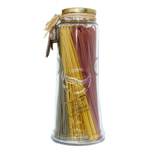 """Spaghetti tricolore in vaso """"La Fabbrica della Pasta"""" - 500 gr."""