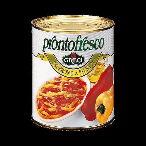 Peperone a filetti in olio - 850 gr.