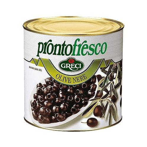 Olives noires dénoyautées - 2600 gr.