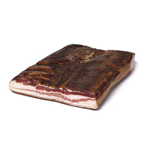 Pancetta de veau crue fumée