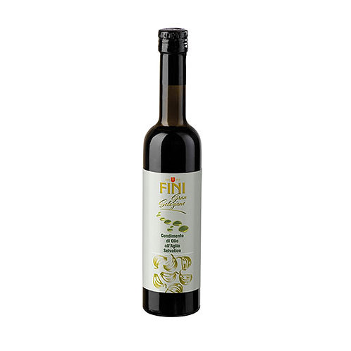 """Huile d'olive extra-vierge infusée à l'ail sauvage """"Fini"""" - 500 ml"""