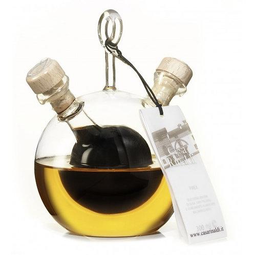 """Set Bottiglia Pirex Palla """"Casa Rinaldi"""" 2 x 150 ml."""
