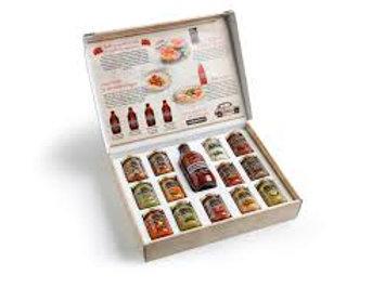 """Gift box """"Agromonte"""" - 1 bottiglia + 13 vasetti"""