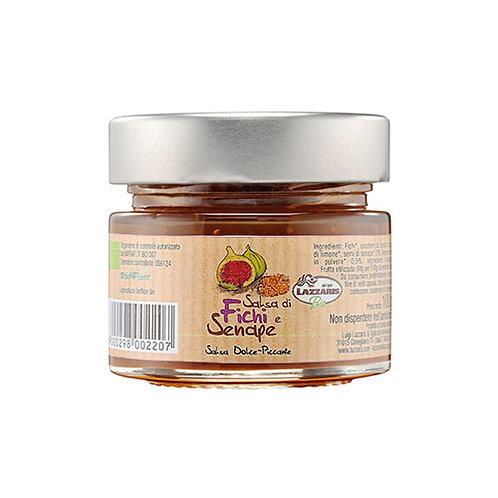 Sauce aux figues et graines de moutarde - 100 gr