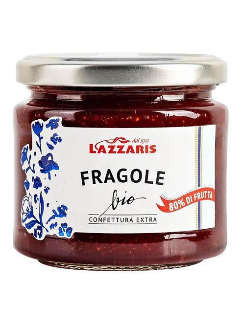 """Confiture Extra Fraise Bio """"Lazzaris"""" - 230 gr."""