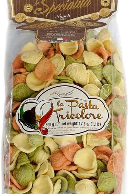 """Orecchiette tricolore """" La Fabbrica della Pasta"""" - 500 gr."""