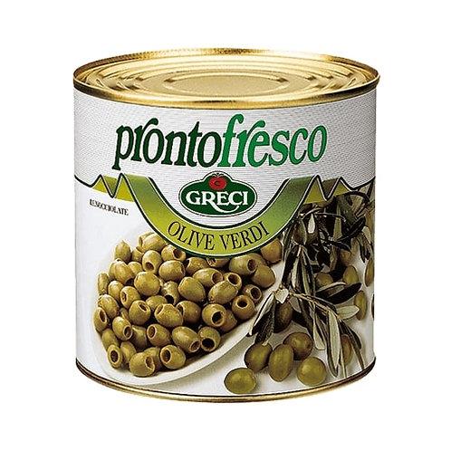 Olives vertes dénoyautées - 2600 gr.