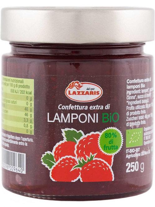 """Confettura Extra di Lamponi Bio-zero pectina """"Lazzaris"""" - 640 gr."""
