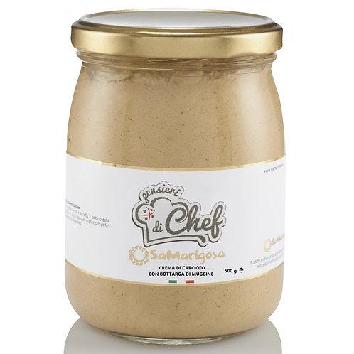 Crème d'artichauts et bottargue - 500 gr