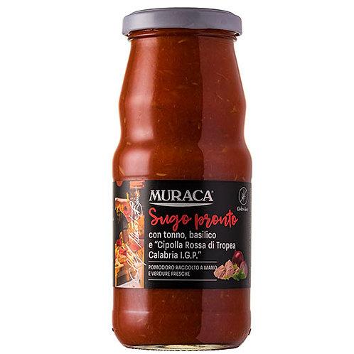 Sauce prête au thon, basilic et 'Oignon rouge de Tropea Calabria' IGP - 370 ml