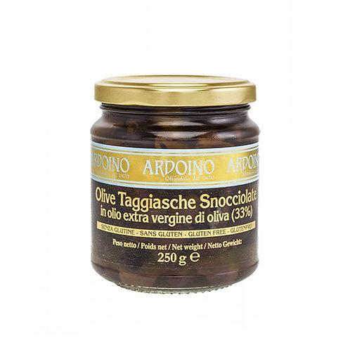 "Olives Taggiasche à l'huile d'olive  ""Ardoino"" - 250 gr."