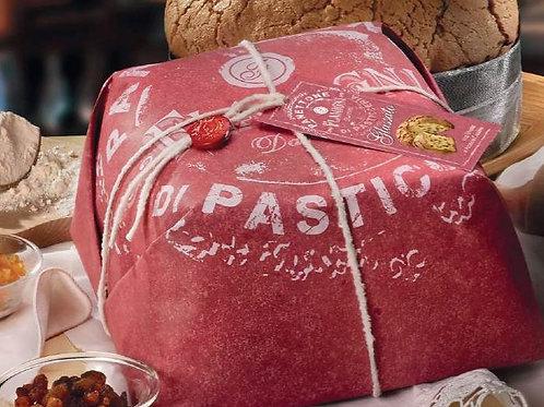 Panettone glassato incarto a mano (Rosso) - 1 Kg.