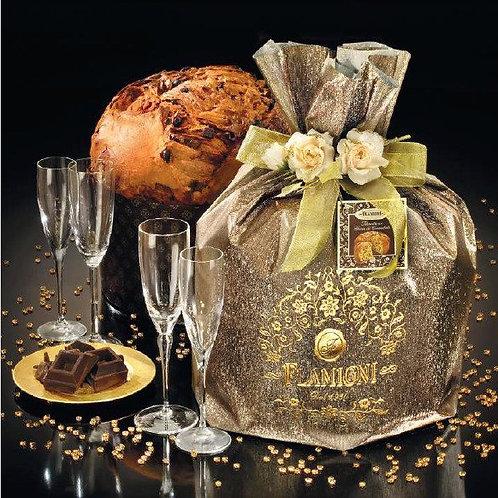 Panettone Magnum al Cioccolato in sacchetto Glitter marrone - LINEA ORO - 5 Kg