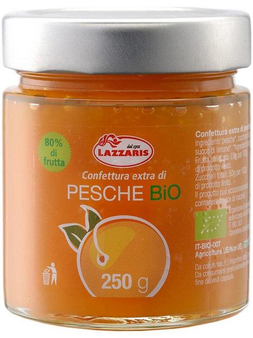 """Confettura Extra di Pesche Bio-zero pectina """"Lazzaris"""" - 640 gr."""