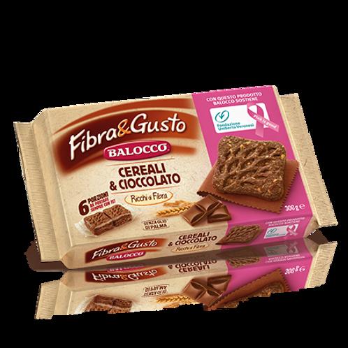 """Fibra & Gusto cereali e cioccolato """"Balocco"""" - 300 gr."""