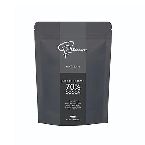 "Chocolat noir en boutons 70% ""Patissier"" - 200 gr."