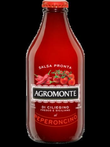 "Salsa do Pomodoro Ciliegino e Peperoncino ""Agromonte"" - 33 cl."