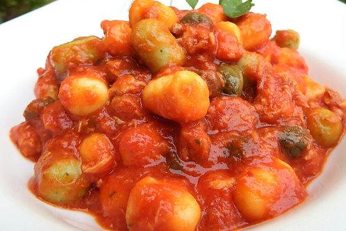 Gnocchi à la sauce méditerranéenne-500 gr