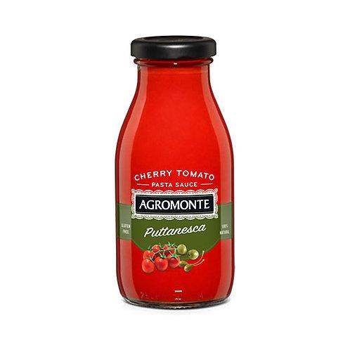 """Sauce de tomates cerises avec olives vertes et câpres """"Puttanesca"""" - 260 gr."""