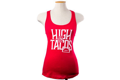 Red High On tacos Womens Tank