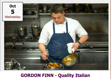 OCTOBER 5: Cooking Class with Gordon Finn of Quality Italian