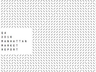 Manhattan Q4 2016 Market Report