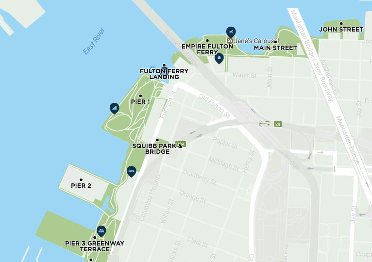 Brooklyn Bridge Park - Map of Attractions