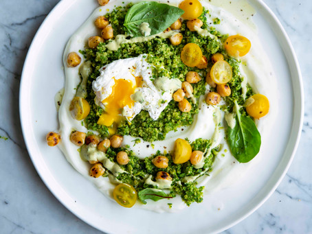 Green Falafel soil & eggs from Food that loves you back recipe ebook