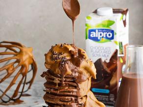Chocolate Hotcakes with Dalgona cream